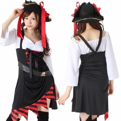 海賊・七分丈 黒・赤